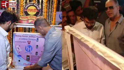 On-screen, PadMan installs sanitary pad vending machine in Mumbai