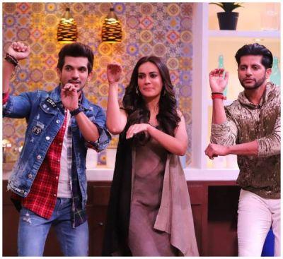 Surbhi Jyoti, Arjun Bijlani and Karanvir Bohra reunites for a cookery show