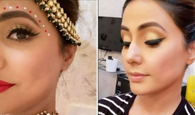 Check out the picture of Kasautii Zindagii Kay's Hina Khan  as a damm pretty Bengali bride