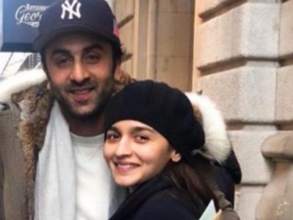 See pics -Alia Bhatt and Ranbir Kapoor pose enjoying the winter in New York