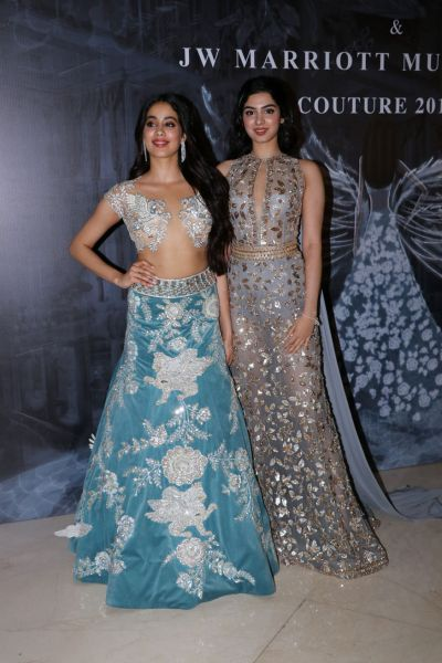 Janhvi Kapoor and Khushi Kapoor featuring their first official appearance together