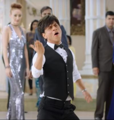Shah Rukh rehearses to the song Affoo Khuda