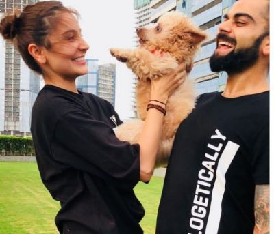 Anushka spends time with hubby Virat and her lovely Pet