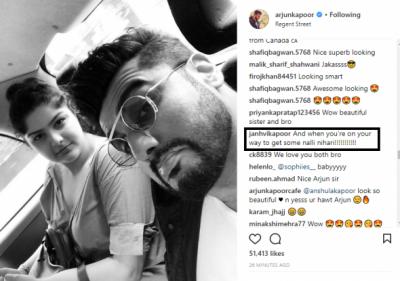Jhanvi's adorable comment on Arjun-Anshula's picture