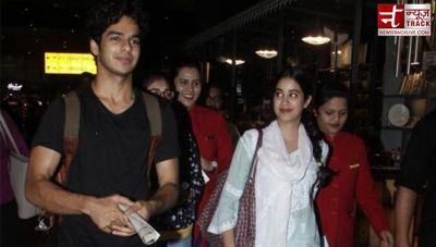 'Dhadak' couple Ishaan and Janhvi Kapoor adorably spooted at the airport