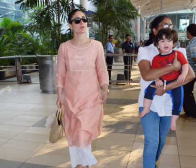 Kareena Kapoor with son Taimur  spotted at airport