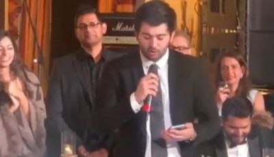 Sunny Deol's son Karan rap video at a wedding  is going viral on the internet, check it out here
