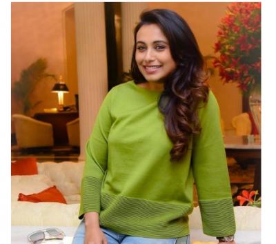 Rani Mukerji looks radiant as she promotes movie 'Hichki'