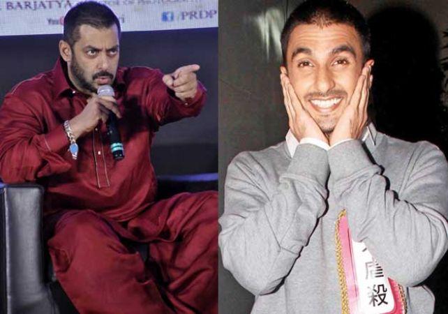 Salman Khan marks Ranveer Singh in the same league as SRK, Aamir Khan and Akshay Kumar