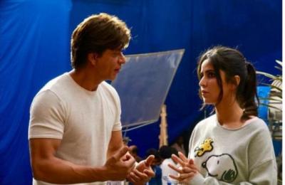 Shahrukh Khan and Katrina Kaif clicked in the sets of  'Zero'