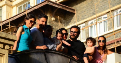 Taimur Ali enjoys quality time with family