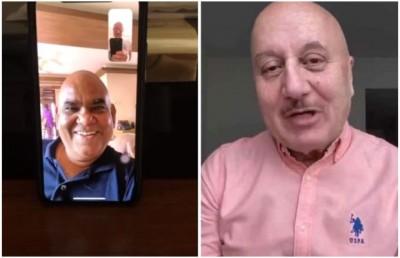 Anupam Kher is removing distances through video calls