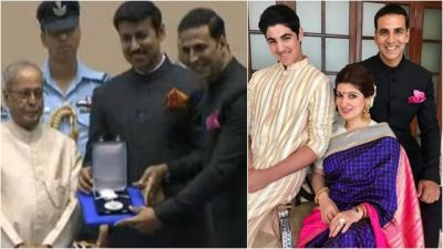 Akshay Kumar received the National Award in presence of wife and son