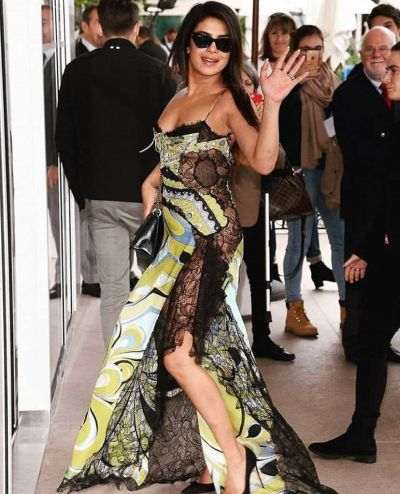 PeeCee's Yellow-green lace dress from Cannes will really cost you a lot!