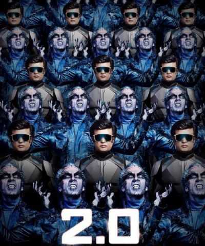 New poster of 2.O is out, Chitti the robot and the Crow Man face off against one another