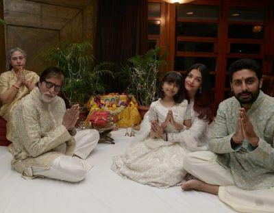 Diwali 2018: Bachchan family Amitabh, Jaya, Aishwarya, Abhishek & Aaradhya celebrate together; View Pics