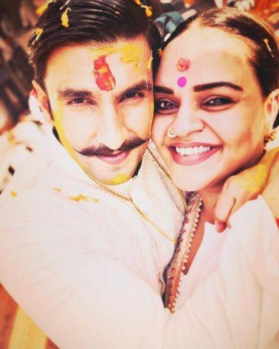 See pictures; Ranveer Singh looks all smiles in his Haldi ceremony