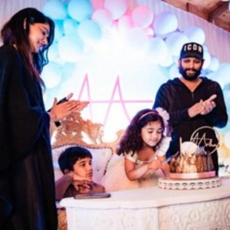 अल्लू अर्जुन ने फिल्म 'पुष्पा' के सेट पर मनाया बेटी का बर्थडे
