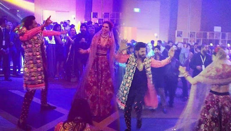 Deepika Padukone & Ranveer Singh dance like rockstars at a party hosted by Ritika Bhavnani