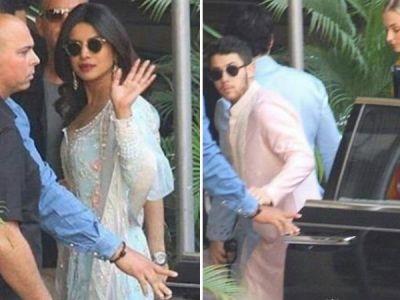Pics : Priyanka Chopra and Nick Jonas dressed in Indian wear start wedding celebrations with a puja