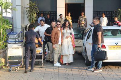 NICKYANKA wedding:  Priyanka Chopra,Nick Jonas depart for Jodhpur along with Joe Jonas ,Sophie Turner