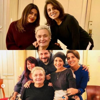 Rishi Kapoor and Neetu Kapoor spend a great evening with Priyanka Chopra and Sonali Bendre