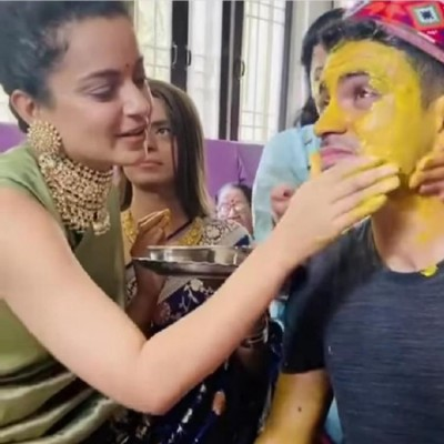 Kangana Ranaut's brother Aksht gets ready to tie the knot, actress shares video
