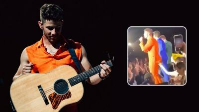 Fan was repeatedly touching Nick from behind in an abrupting manner; watch video here!