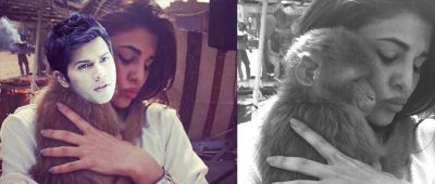 Jacqueline Fernandez's Instagram pictures with Varoon and Monkey