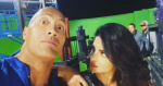 That's how we roll at the Baywatch,The Rock Johnson shared a video