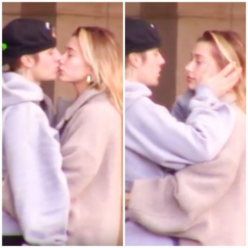 Watch Newlyweds Justin Bieber and Hailey Baldwin kiss in public