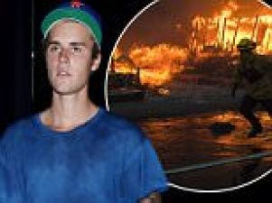Justin promises to support California wildfire victims