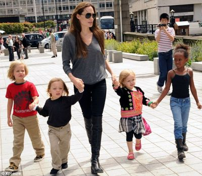 It is Angelina Jolie's turn to indulge in some downtime with her kids