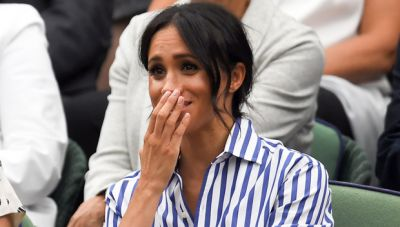 Meghan sheds tears on the defeat of Serena Williams