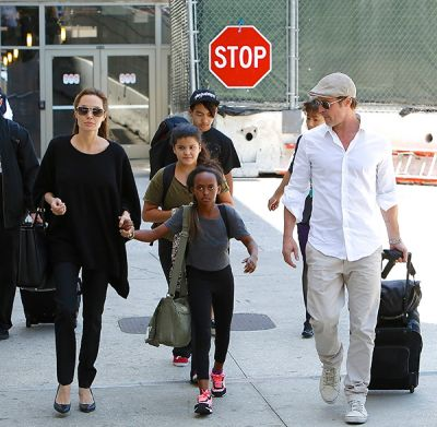 Brad Pitt was seen spending quality time with his six kids
