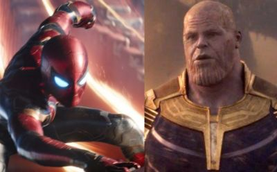 Avengers 4: Spiderman and Thanos snap scene recreated on a pumpkin in Infinity war