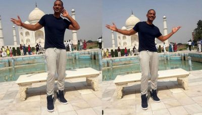 See Photos: Will Smith posing in front of the iconic Taj Mahal, clicks selfies with the security personnel