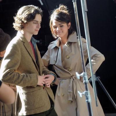 Selena Gomez gives Timothée Chalamet company as he waits to vote