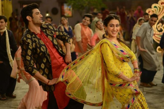 Kedarnath: Sara Ali Khan and Sushant Singh Rajput are enjoying in this New still from Sweetheart