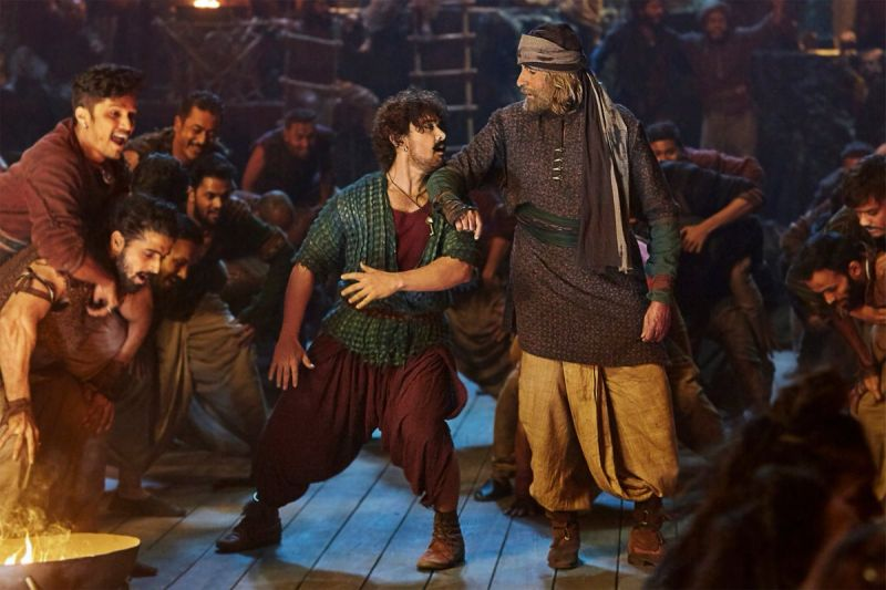 See pics:Thugs of Hindostan -Amitabh Bachchan & Aamir Khan to dance together in the song Vashmalle