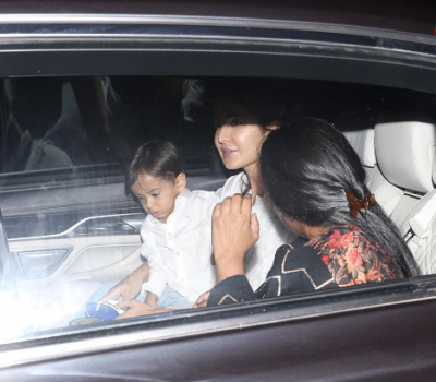 Arpita Khan with son Ahil arrived at Katrina Kaif's residence