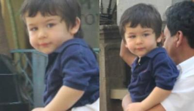 Little munchkin Taimur Ali Khan looks dapper casuals but one thing was missing…..pics inside