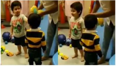 """Ye Mera teddy hai"" Taimur Ali Khan snatch a toy while playing with friends…check video"