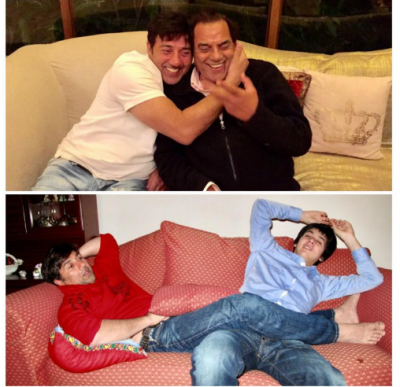 Sunny Deol and Karan Deol shows their father-son bond, have a look