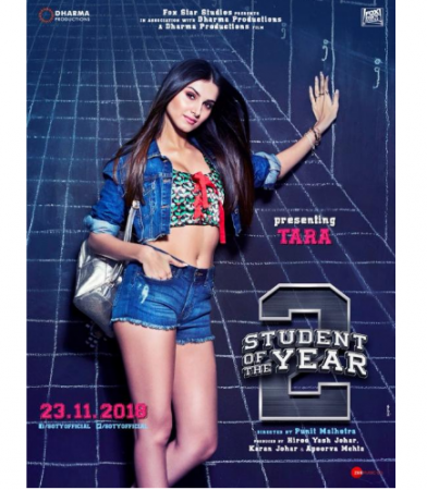 Tara Sutaria looks hot as ever in the new poster of 'Student of the year 2'