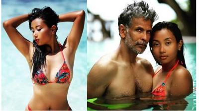Milind Soman's wife Ankita Konwar hot bikini looks in beach surely will take your breath…look inside