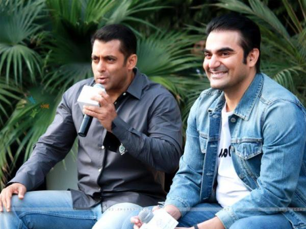 Looking Salman Khan in moustache left producer Arbaaz Khan astonished