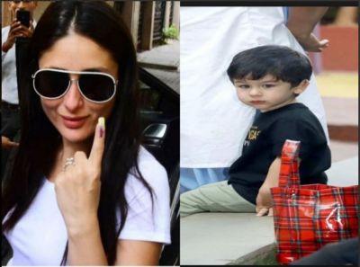 Watch! Taimur Ali Khan Accompanied her Mom Kareena Kapoor to Vote for the Nation
