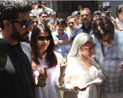 Bachchan Family arrive together to cast their votes