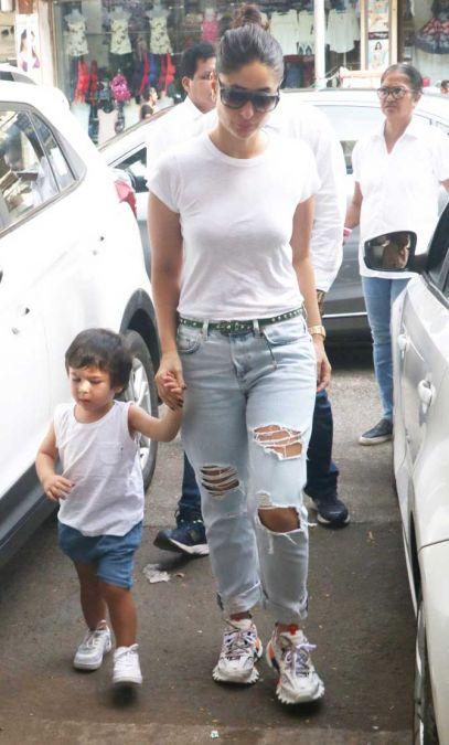 Kareena goes shopping with Taimur, see the viral video